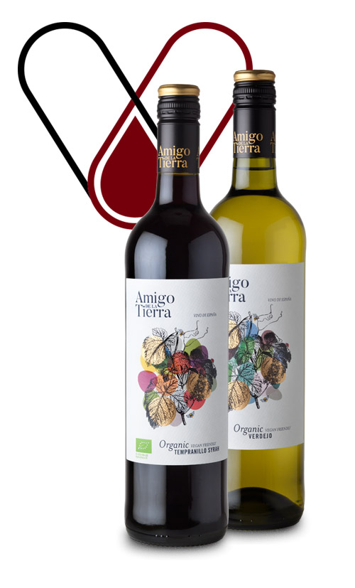 Vinergia Spanish Wines Amigo de la tierra red white organic wine